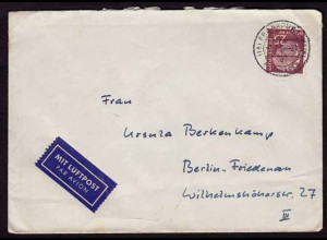 25 Pfg. Heuss Einzelfrankatur Bundesrepublik 1957 (b243