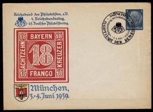 Drittes Reich WW2 1939 Privat-Ganzsache m.SST (b150