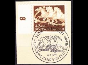 Drittes Deutsches Reich DR 1942 Mi. 815 Brfstck. SST München Riem WW2 (c431