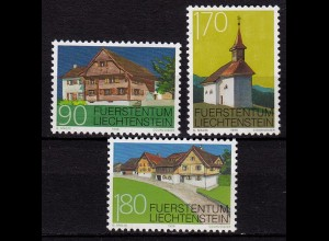Liechtenstein Baudenkmäler 1998 Mi. 1186-88 ** (c110