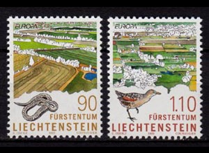 Liechtenstein Nationalparks 1999 Mi. 1190-91 ** (c112