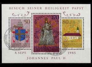 Liechtenstein Papst Block 12 ESST (c122