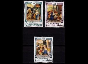 Liechtenstein Weihnachten 1990 Mi 1005-07 ** (c035