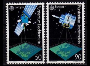 Liechtenstein EUROPA CEPT 1991 Mi. 1011-12 ** (c037