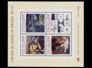 Portugal 1985 500 Jahre Azulejos Block 49 ** postfrisch MNH (d327