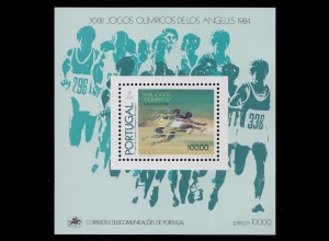 Portugal 1984 Olypiade Los Angeles BLOCK 45 ** postfrisch MNH (d330