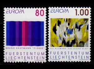 Liechtenstein Europa Cept 1993 Mi.1054-55 ** unter Postpreis (c054