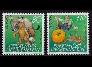 Liechtenstein Europa Cept 1997 Mi.1145-46 ** unter Postpreis (c092