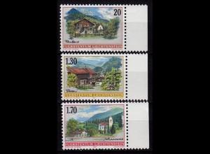 Liechtenstein Dorfansichten 1997 Mi.1148-50 ** unter Postpreis (c094