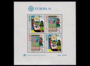 Portugal 1981 EUROPA CEPT Block 32 ** postfrisch (d295