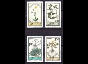 Liechtenstein Heilpflanzen 1995 Mi. 1116-19 ** unter Postpreis (c079