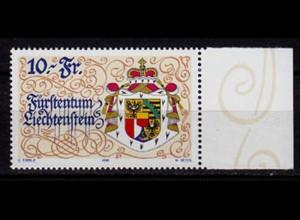 Liechtenstein 10 Franken 75 J.Verfassung 1996 Mi.1136 ** unter Postpreis (c088