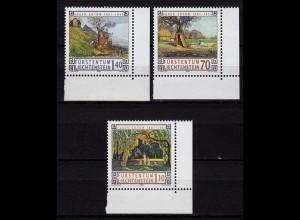 Liechtenstein Maler Malerei 1996 Mi.1138/40 ** unter Postpreis (c090