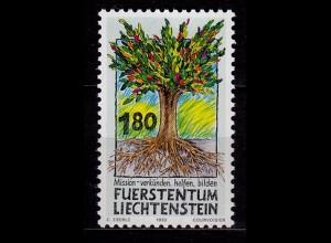 c059/ Liechtenstein Mission Entwicklung 1993 Mi1064 ** unter Postpreis (c059
