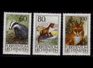 Liechtenstein Jagd Jagdwesen 1993 Mi.1066-68 ** unter Postpreis (c060