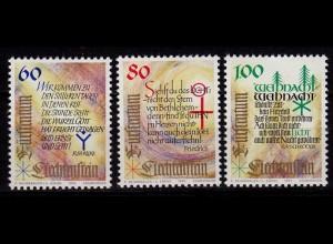 Liechtenstein Weihnachten 1993 Mi.1073-75 ** unter Postpreis (c063