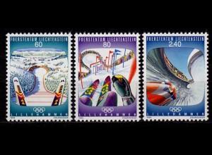 Liechtenstein Winter Olympiade 1993 Mi.1076-78 ** unter Postpreis (c064