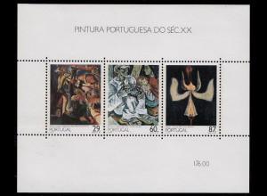 Portugal 1989 Gemälde 20.Jahrhundert BLOCK 63 ** postfrisch MNH (d342