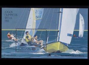 Portugal 1989 Olypiade SEOUL BLOCK 60 ** postfrisch MNH (d344