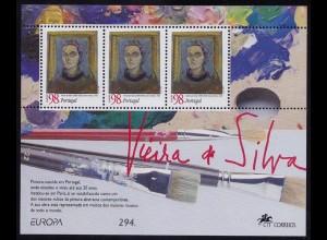 Portugal 1996 Europa da Silva Block 113 ** postfrisch MNH (d352