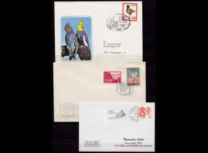 Vögel Tiere Wildlife Birds 3 covers or cards (b259
