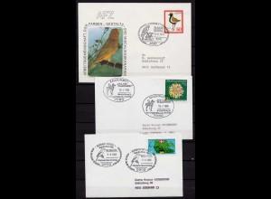 Vögel Tiere Wildlife Birds 3 covers or cards (b265