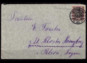 Berlin 61 24.7.1920 nach Kloster Kreuzberg Rhön (b654
