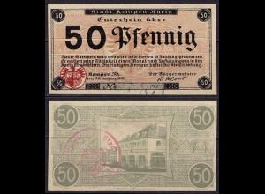 Rheinland - Kempen - 50 Pfennig 1918 Notgeld Stempel Emergency Money (ca016