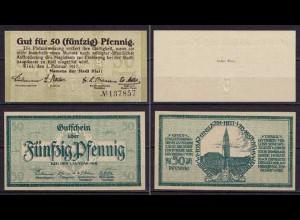 Schleswig-Holstein - Kiel - 2 mal 50 Pfennig 1917/18 Notgeld (ca017