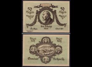 Thüringen - Keilhau 50 Pfennig 1921 Notgeld Emergency Money (ca024