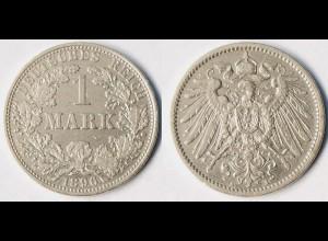 1 Mark Jäger 17 Silber Münze großer Adler 1896 A (r1296
