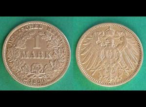 1 Mark Jäger 17 Silber Münze großer Adler 1899 F (18831