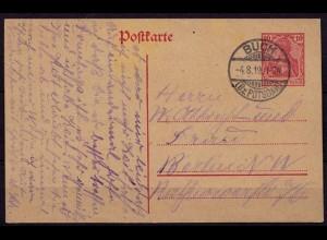 Buch Bez. Potsdam Ganzsache n. Berlin 1919 (b801