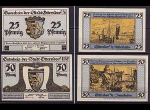 Niedersachsen - Otterndorf 25 + 50 Pfennig 1920 Notgeld (ca263