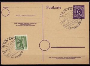 Berlin SBZ Ganzsache 6 Pfg Deligierten Gewerkschaft 1946 (b819