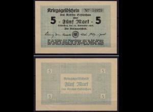 Westpreussen Schlochau 5 Mark 1918 Notgeld Kriegsgeld Polen Poland Polska (ca661