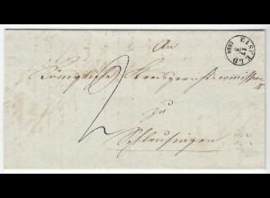 Eisfeld Kreis Hildburghausen Vorphila mit Inhalt 18.8.1858 Fingerhut St. (d641