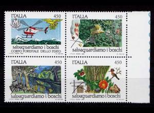 Italien Naturschutz 1879-82 Waldbrand 1984 ** (b617
