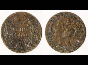 Spielgeld Jeton Spielmarke Rechenpfennig auf Queen Victoria UK (p943