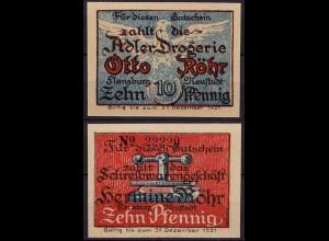 Schleswig Holstein - Flensburg/Neustadt 10 Pfg. Drogerie/Schreibwaren (c856