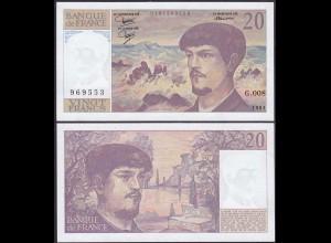 Frankreich - France 20 Francs Banknote 1981 XF/aUNC Pick 151a (13092
