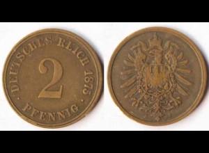 2 Pfennig Kaiserreich EMPIRE 1875 J Jäger 2 (r541