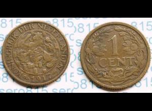 Niederlande NEDERLAND 1 Cent 1917 (b486