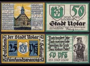 Niedersachsen - Uslar 25 + 50 Pfennig Notgeld 1921 (ca889