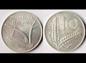 Italien - Italy - 10 Lira 1956 schöne Erhaltung (r504