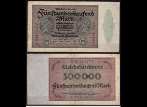 Reichsbanknote 5000 fünftausend Mark 1923 Rosenberg 87b - FZ: C - Erh.3 (ca818