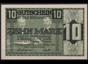 Thüringen - Mühlhausen 10 Mark 1918 Notgeld (ca795