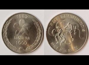 Korea Süd 1000 Won 1982 Tänzer zur Olympiade 1988 (p974