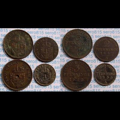 Preussen Prussia Lot 4 Stück ab 1847 (b532