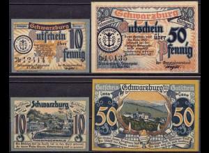 Thüringen - Schwarzburg 10 + 50 Pfennig 1921 Notgeld (ca419